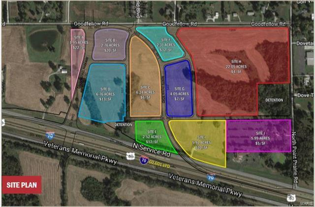 I-70 and Point Prairie, 18035776, Wentzville, Commercial Land,  for sale