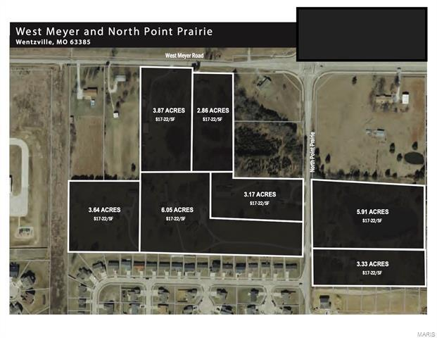 West Meyer & Pointe Prairie, 20055642, Wentzville, Commercial Land,Hotel Land,Office Land,Other,Retail,  for sale
